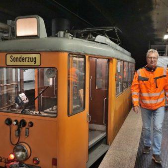 Arbeiten im U-Bahnhof Düsseldorf Hbf